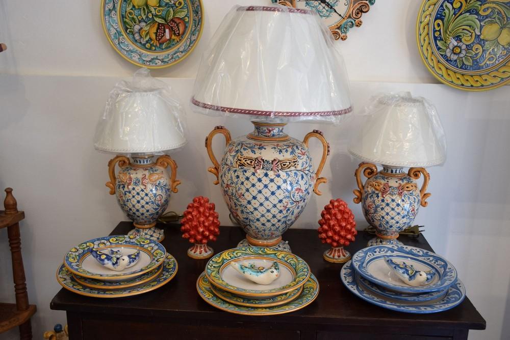 Lumi in ceramica di caltagirone